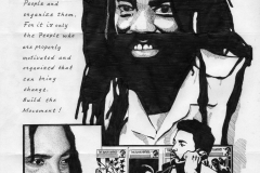 'Ona Move' Mumia graphic art by Rashid Johnson 2006