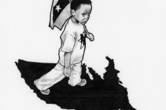 child with flag